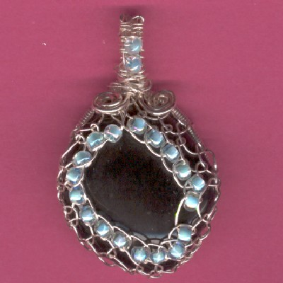 Apache Tear Pendant - Handcrafted Jewelry