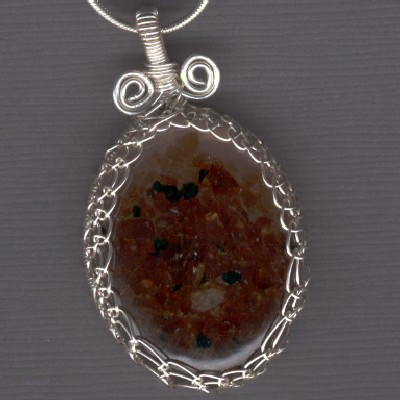 Oval Garnet Pendant - Handcrafted Jewelry