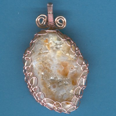 Chalcedony Pendant - Handcrafted Jewelry